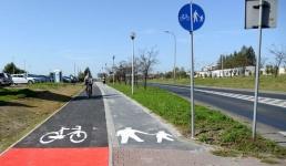 Kilkaset metrów ścieżki rowerowej przy wadowickiej obwodnicy oddany do użytku
