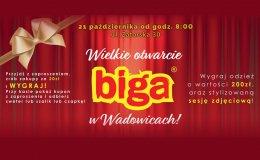 Wielkie otwarcie sklepu BIGA w Wadowicach!